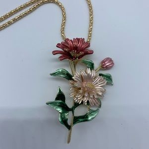 New fashion floral bouquet pendant necklace/brooch